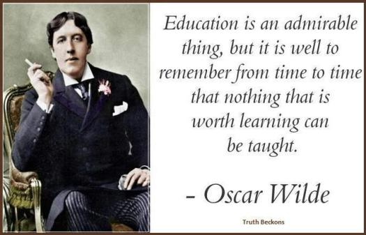 True Education by Oscar Wilde