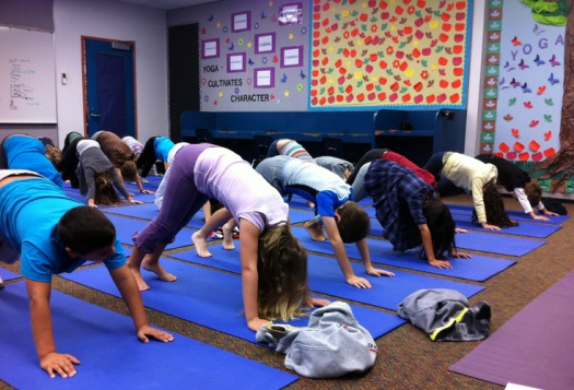 Yoga in elementary school