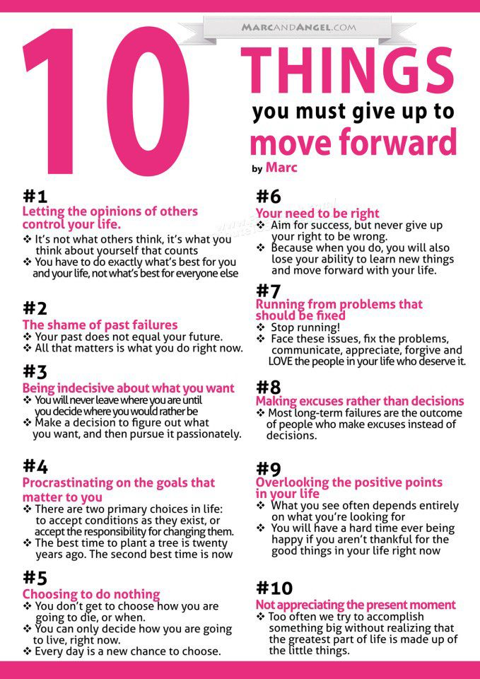 10 things you need to do to move forward