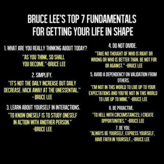 Bruce Lee's 7 rules of Life