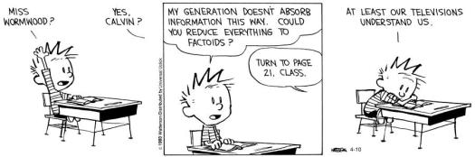 Calvin and Hobbes Schooling