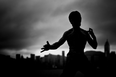 Bruce Lee shadow