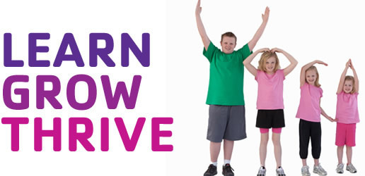 """The official motto of the YMCA in my area; However I feel that """"learn, grow, thrive"""" is more for the instructors rather than the children!"""