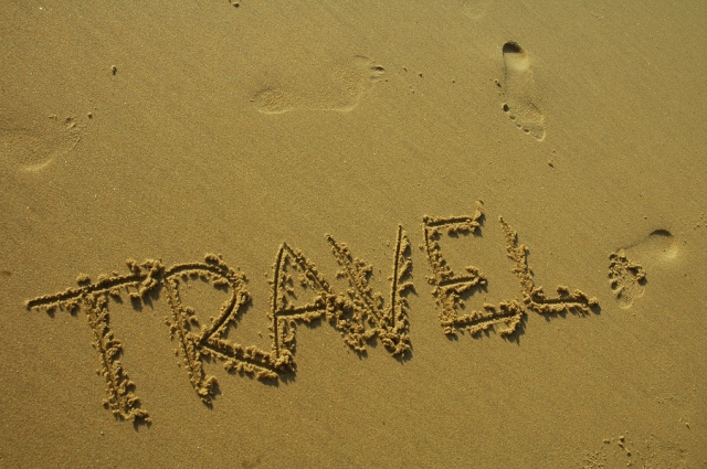 travel written in the sand